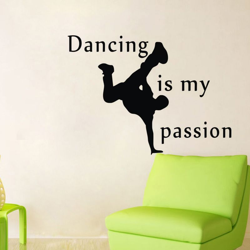 ehome dancing is my passion wall decals quotes vinyl adhesive wall
