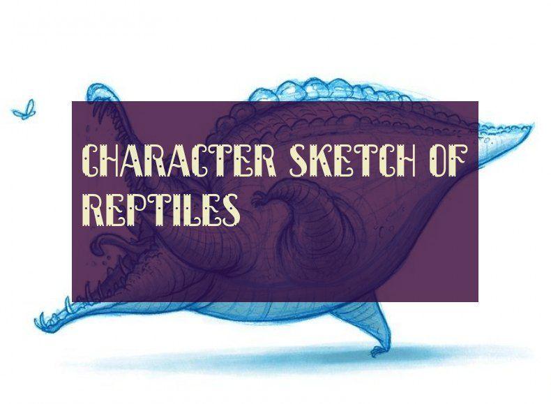 Character Sketch Of Reptiles Charakterskizze Von Reptilien