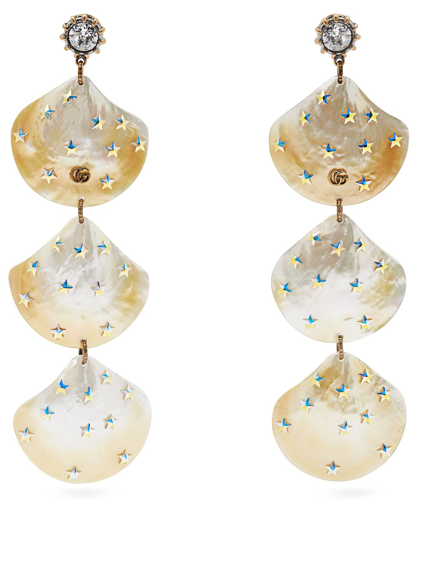 057f79a8854 GG mother-of-pearl shell-drop earrings