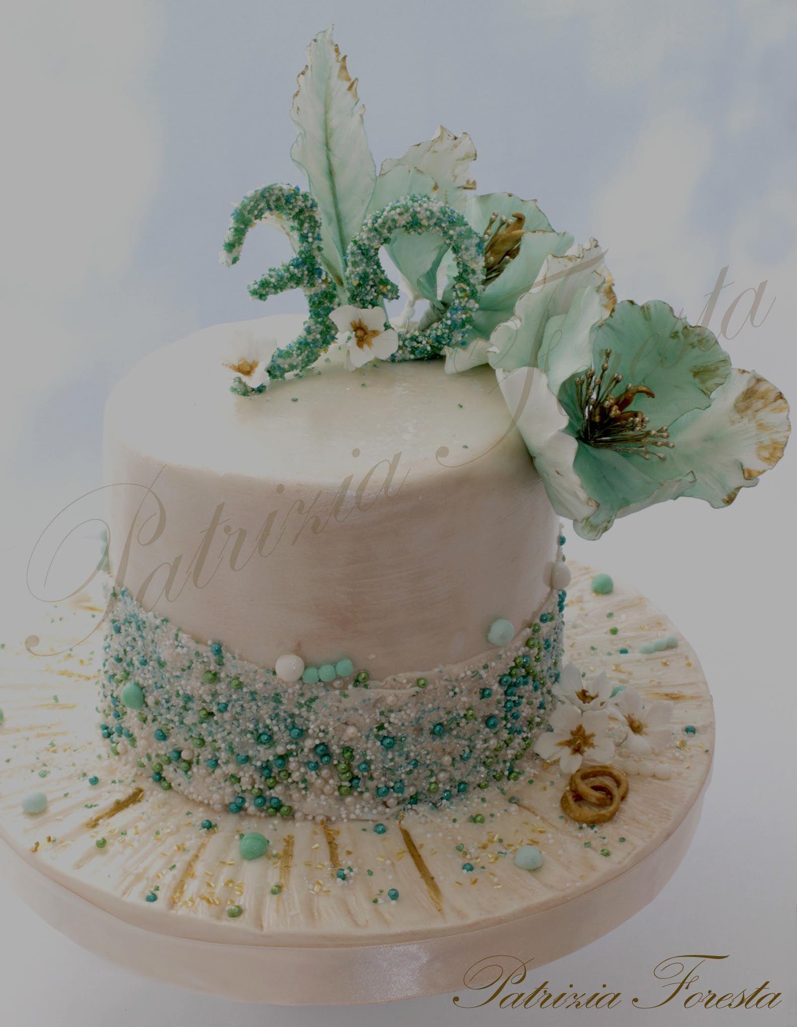 30 Anniversario Di Matrimonio Nozze Di Perla Colore Acquamarina Con Immagini Anniversario Di Matrimonio Torte Anniversario