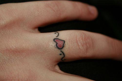 Heart Ring Tattoo