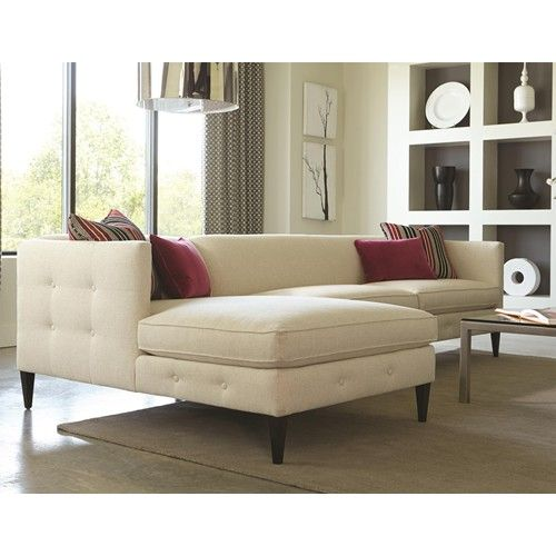 Modern Sectional Sofas Houston: Rowe Claire Contemporary 2 Piece Sectional Sofa With