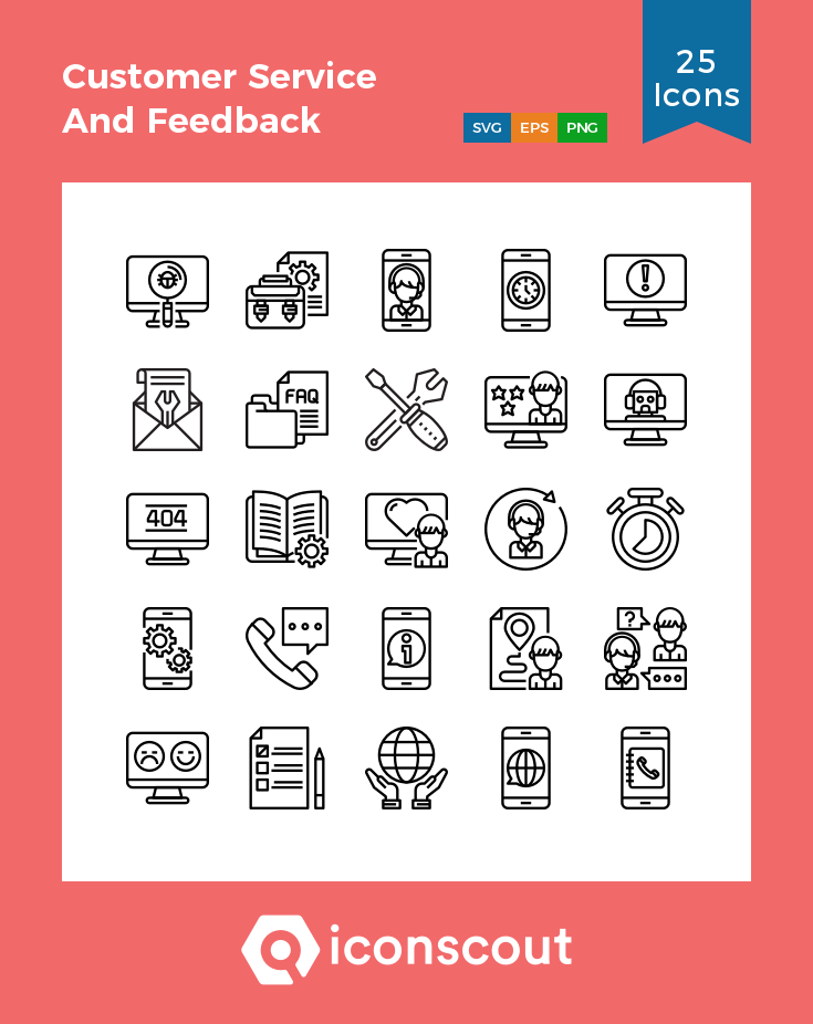 Download Customer Service And Feedback Icon Pack Available In Svg Png Eps Ai Icon Fonts Icon Pack Icon Icon Font