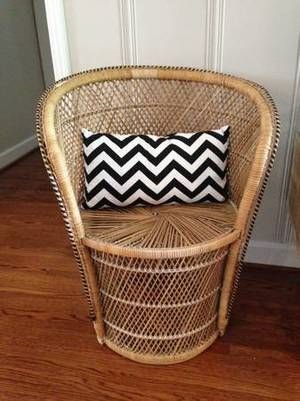 Lovely Vintage Wicker Barrel Chair   Love This! Curating Craigslist
