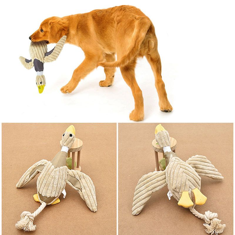 Funny Pet Puppy Chew Squeaker Squeaky Plush Sound Duck For Dog Toy