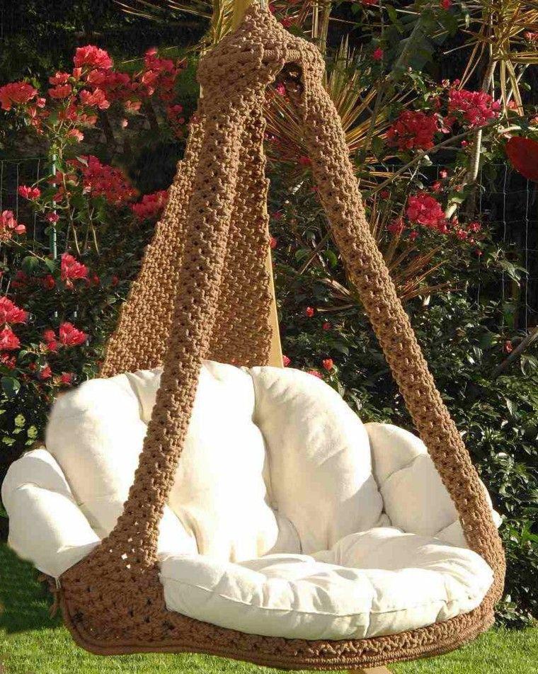 ideas de sillones colgantes para el verano en el jardn - Sillones Colgantes
