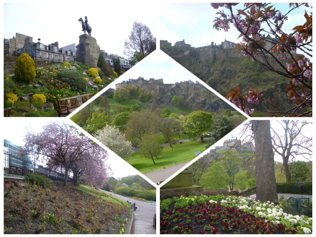 Views of Princes Street, Edinburgh in the spring time. Stay nearby at Craigwell Cottage - a self-catering property in the heart of Edinburgh.  Within easy walking distance of Princes Street. More at: http://www.2edinburgh.co.uk