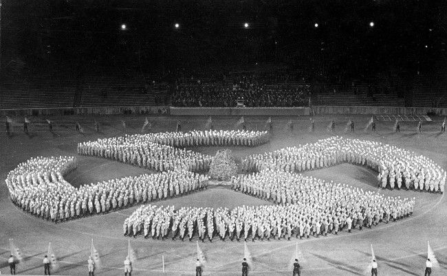 Hitler Youth Honor An Unknown Soldier By Forming A Swastika