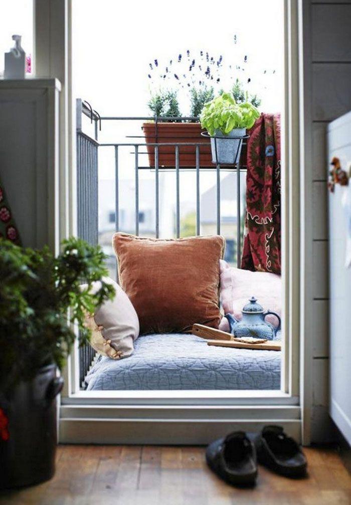Platzsparende Moebel Kleinen Balkon Gestalten Oprimale Raumnutzung