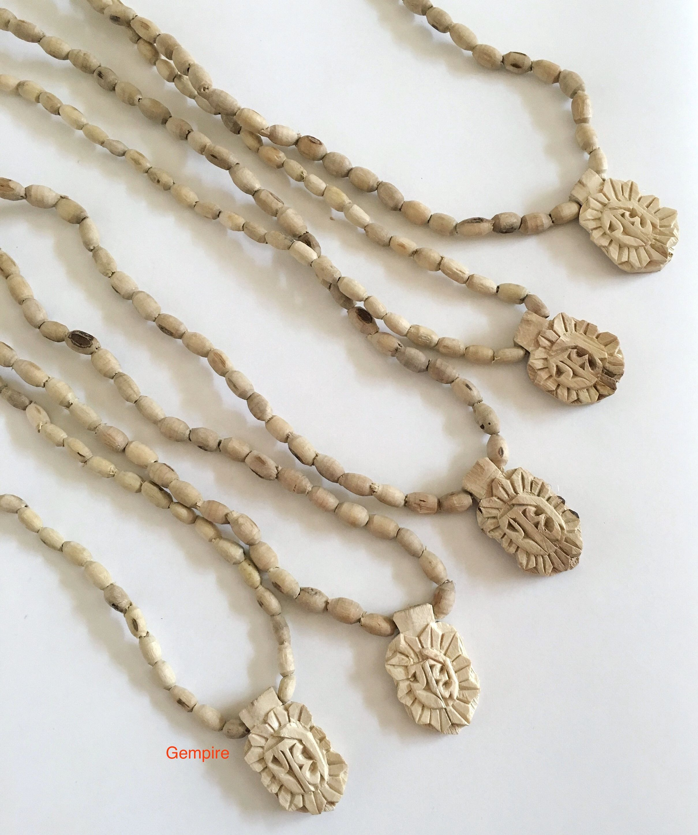 Long Necklace With pendents Bollywood Fashion jewellery Indian Attire Wooden Mala Gift For Her