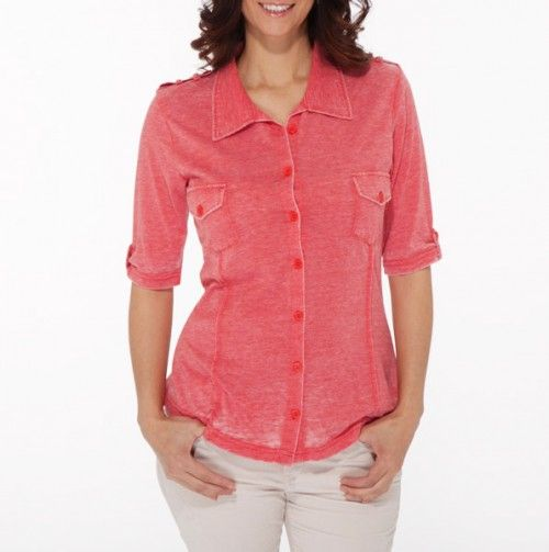 Burnout Button Front Top - Luv4Anouka