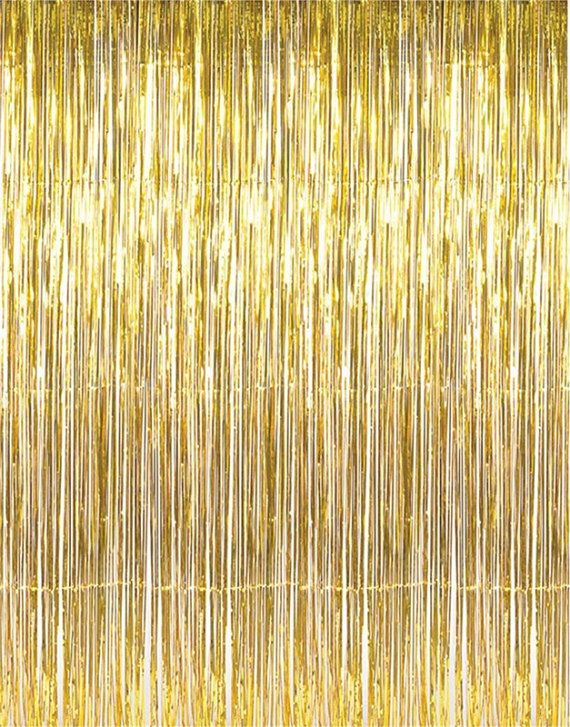 Gold Foil Curtain Shimmer Backdrop New Years Party