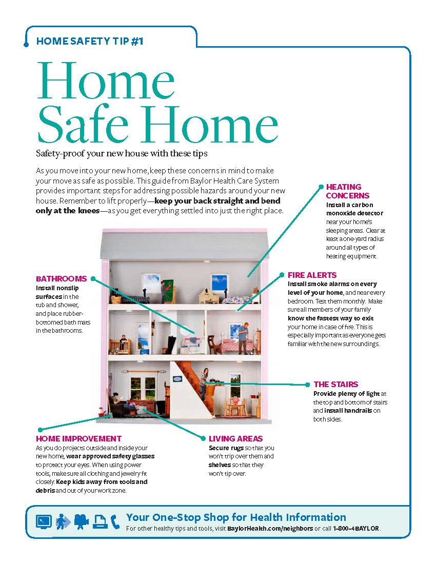 Printable How To Safety Proof Your Home Before You Rearrange Your Living Room Download Print This Tip Sheet To Make With Images House Heating Home Safes Home Safety