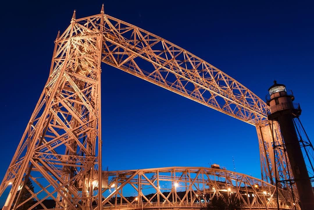 Cab Duluth Mn >> I am going to miss my nights in Duluth #Duluth #night #bridge #Minnesota #lighthouse #bluehour # ...