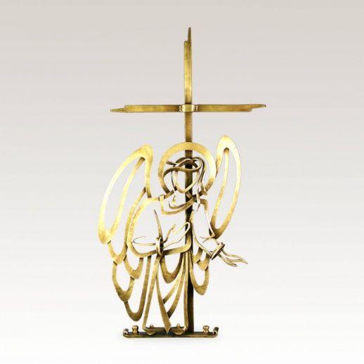 Grabkreuz »Silveri« Metall mit Engelsfigur • Hochwertige Schmiedekunst & Handarbeit • Jetzt versandkostenfrei kaufen bei ▷ Serafinum.de