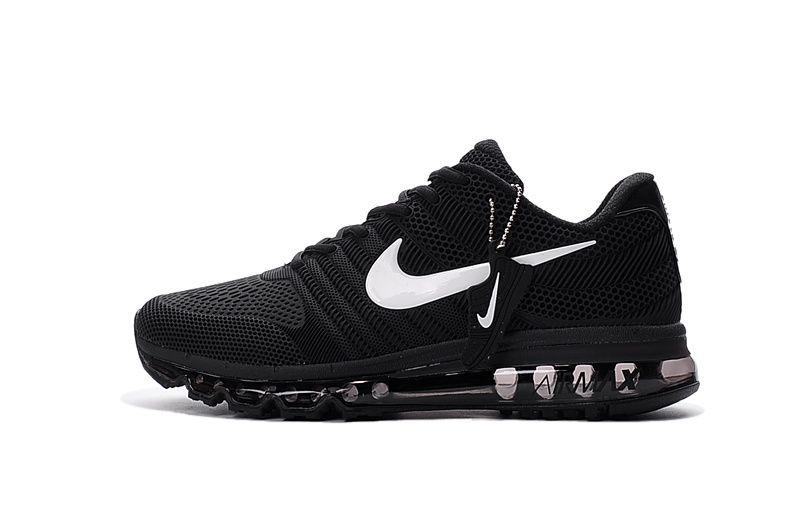 Cheap Nike Air Max 2017 Leather Black White Women Sneakers