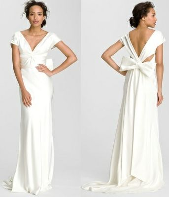 Nicole Miller Nicole Miller Knot Front Double Silk Face Front Gown Size 4