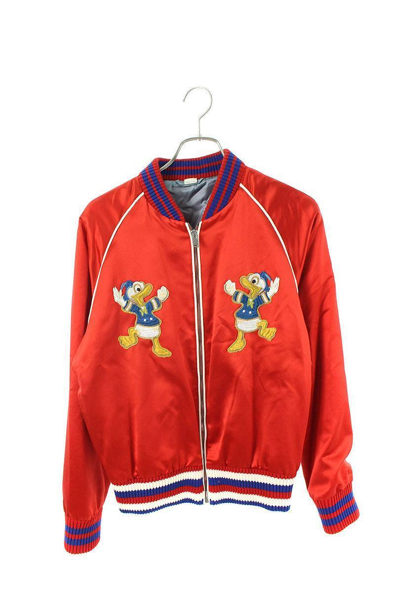 Vintage GUCCI Donald Embroidery Silk Blouson Embroideried