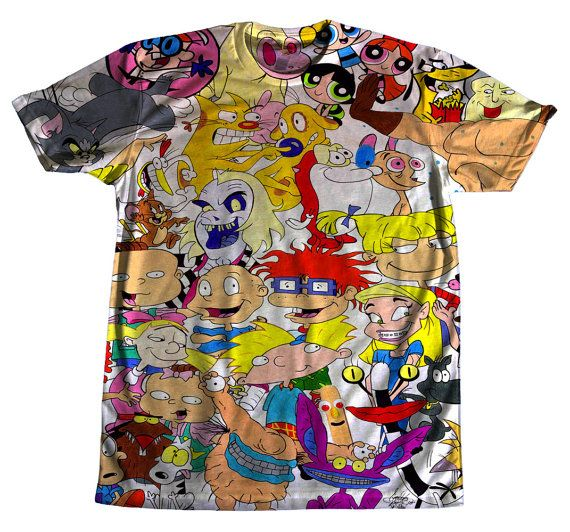 90s Vintage Nickelodeon Rugrats, Hey Arnold Tshirt ($49.84) - Svpply