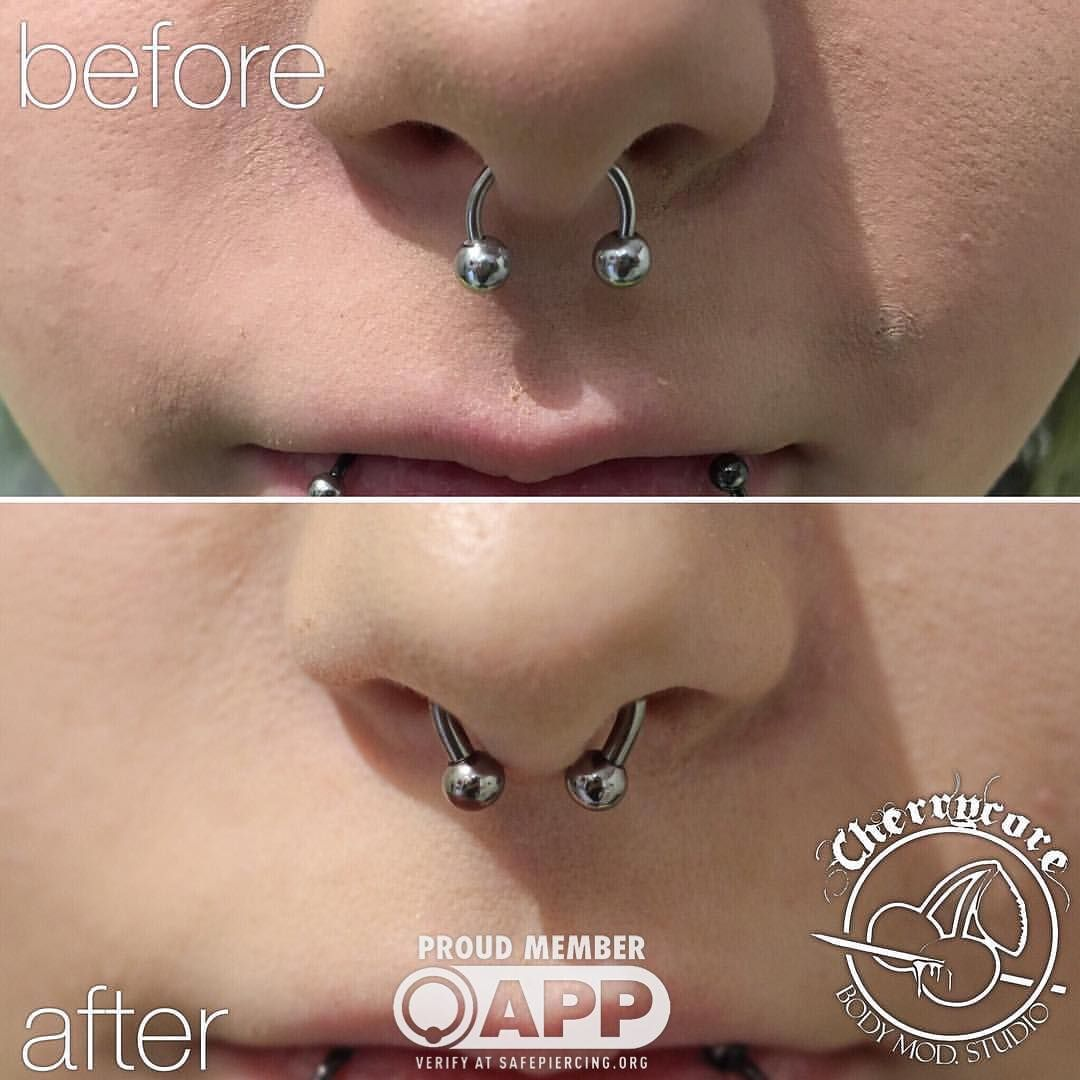 Double nose piercing plus septum  Pin by Emily Hale on Septum  Pinterest  Septum and Piercing
