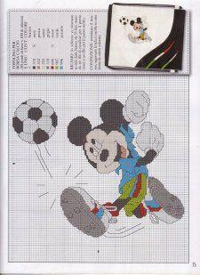 Mickey w/soccer ball