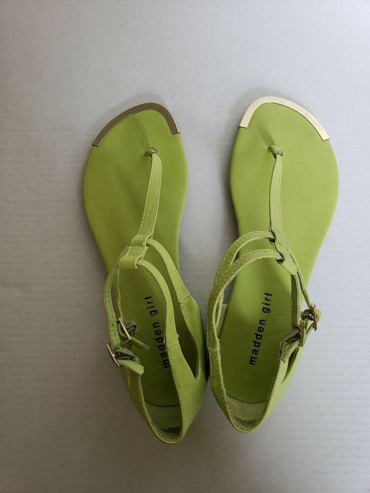 Lime Green Sandals Sz.10