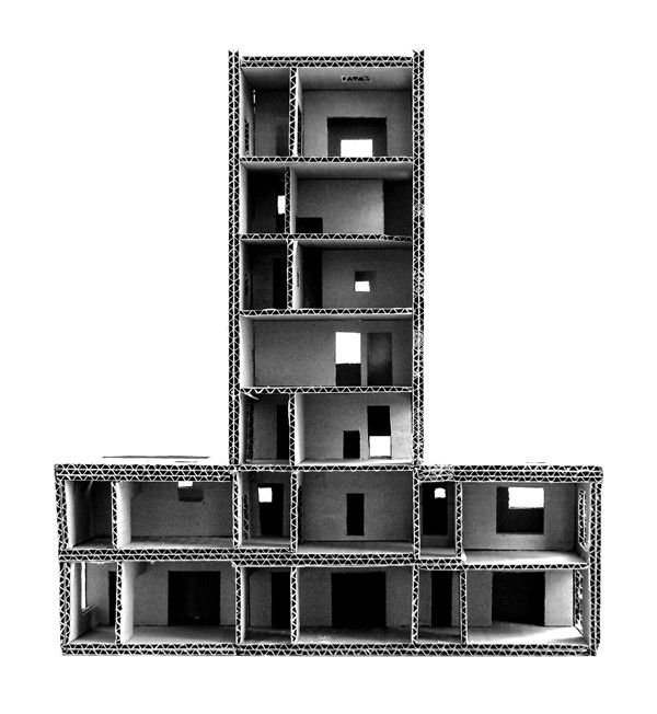 Good sectional model. Cien House,Pezo von Ellrichshausen