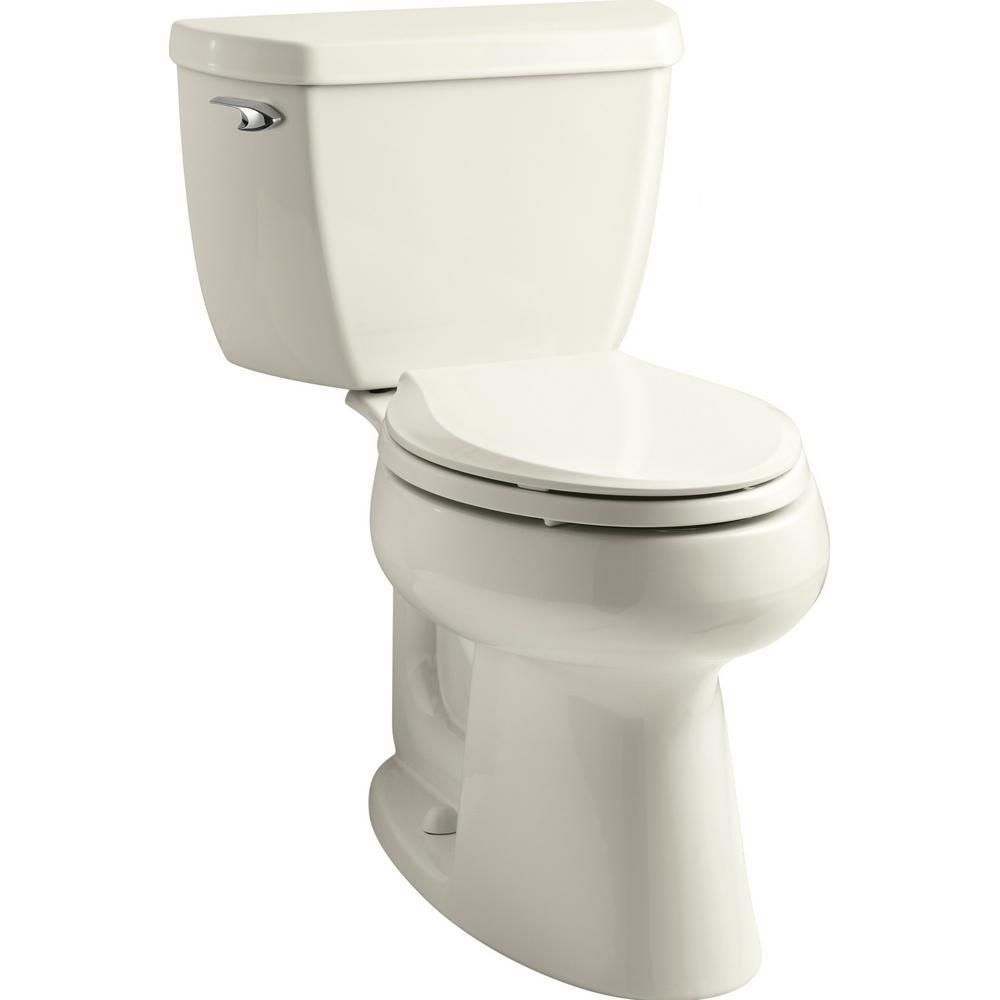 Kohler Highline Biscuit Watersense Elongated Chair Height 2 Piece Toilet