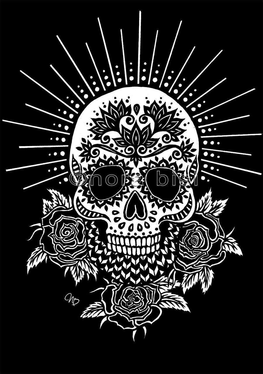 Sugar Skull Black By Norabisi On DeviantArt