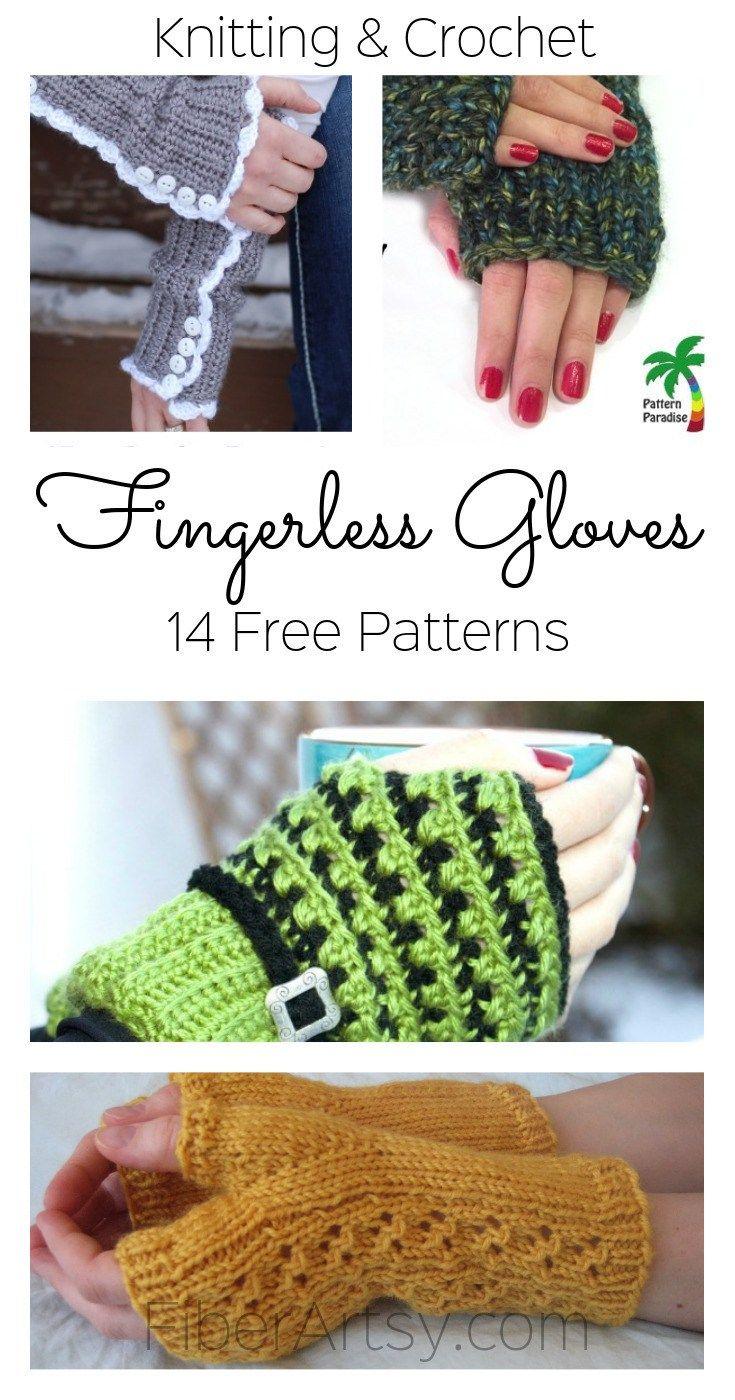 14 Free Fingerless Glove Patterns by | Pinterest