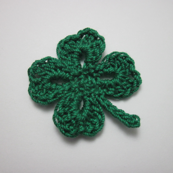 Simple Four Leaf Clover Motif By Liliya Free Crochet Pattern