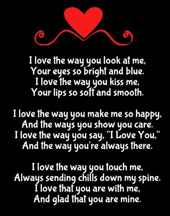Why I Love You Poems | Love you poems, Love yourself