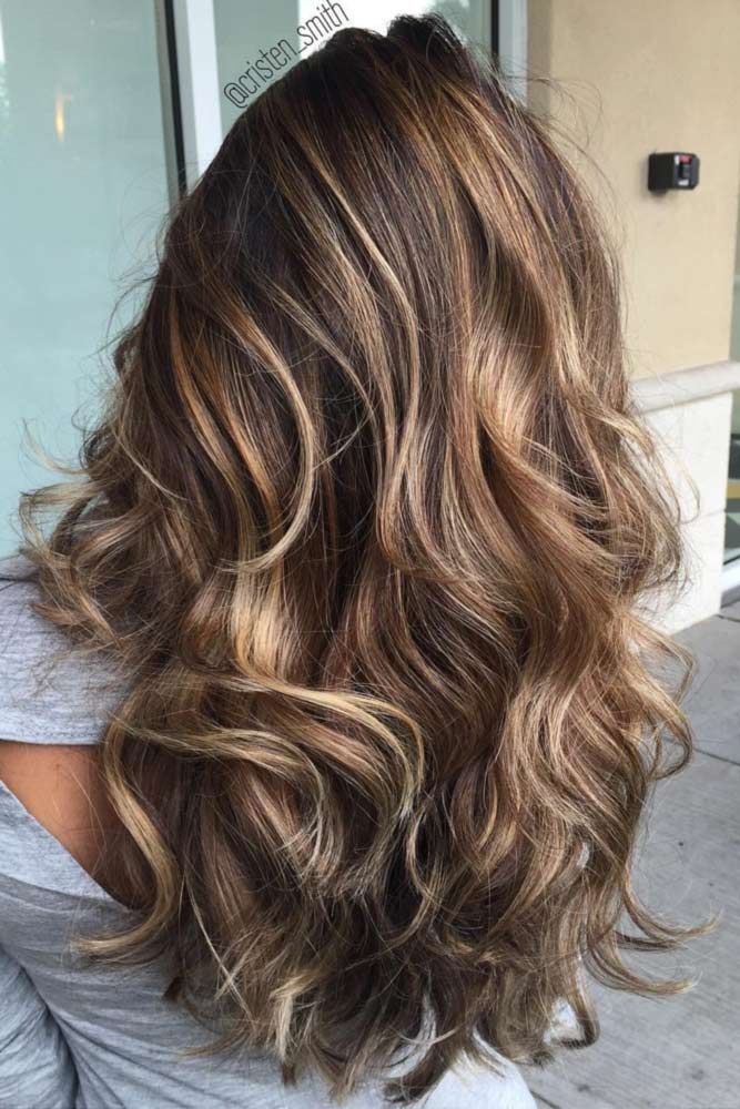 Espresso Balayage with Caramel Tones in 2019