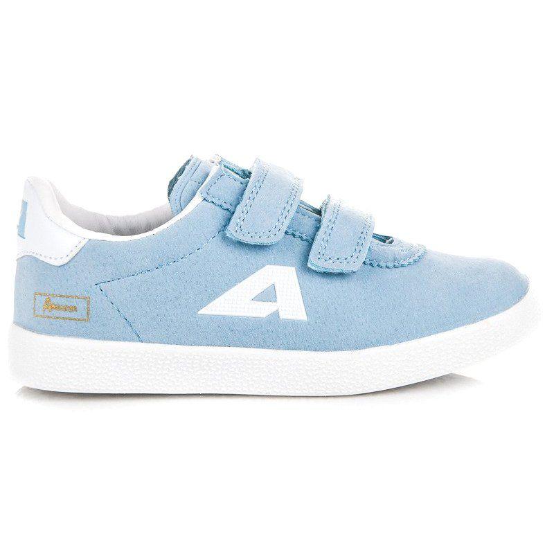 Buty Sportowe Dzieciece Dla Dzieci Americanclub Niebieskie Zamszowe Trampki Na Rzepy American American Club Sneakers Dc Sneaker Shoes