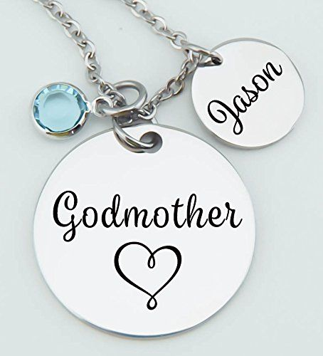 Godmother necklace godson goddaughter gift for godmother godmother necklace godson goddaughter gift for godmother godmother pendant stainless steel aloadofball Gallery