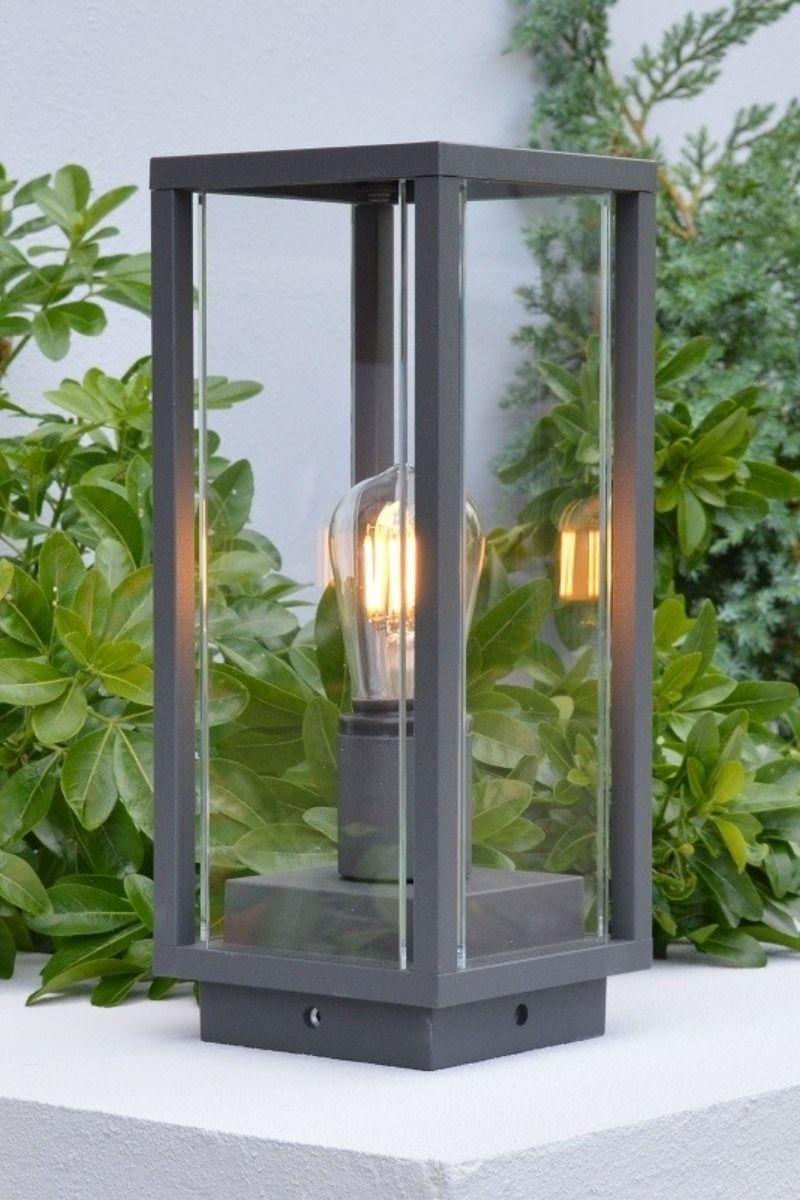 Elipta Kensington Outdoor Post Light E27 Graphite Outdoor Post Lights Post Lights Modern Outdoor