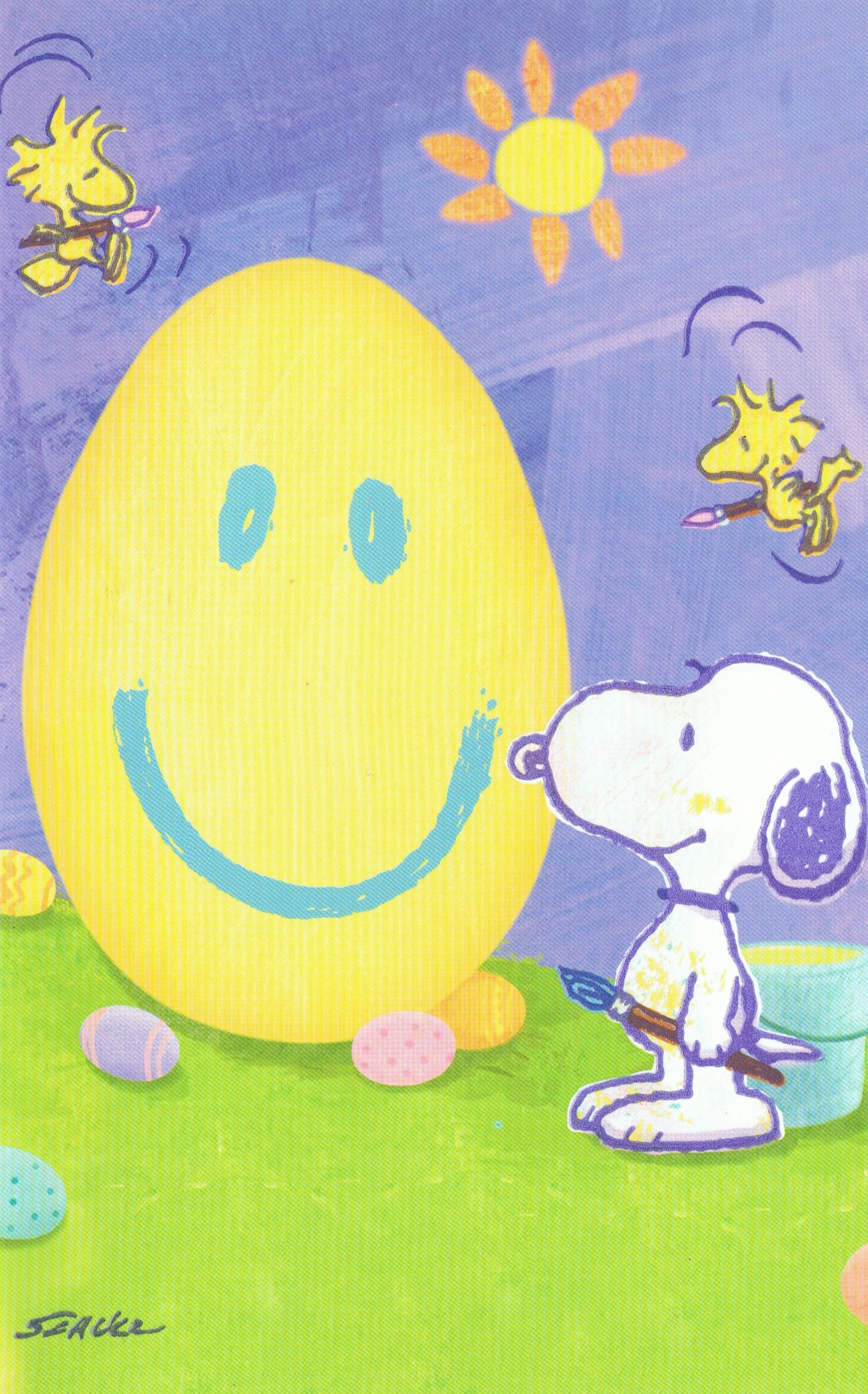 Snoopy Pasen  Snoopy Happy Easter