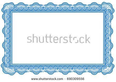 Certificate border design vector free download