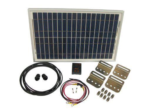 30 Watt Solar Battery Charging System Kit 1 30 Watt Solarland Solar Panel Pv Module 1 Phocos Cm 4 Amp 12 Volt Solar Charge Controller 1 Mounting Bracket Set O