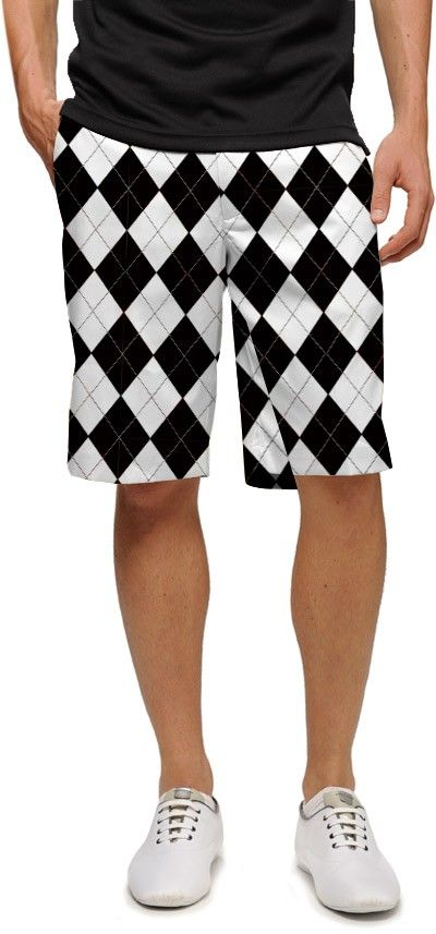 1954fe3038 Loudmouth Black & White argyle Men's shorts. $47.99   Gifts for a ...