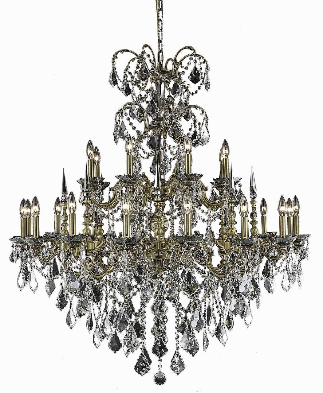 Athena 24 light crystal clear chandelier in french gold finish athena 24 light crystal clear chandelier in french gold finish 9724g44fgec aloadofball Images