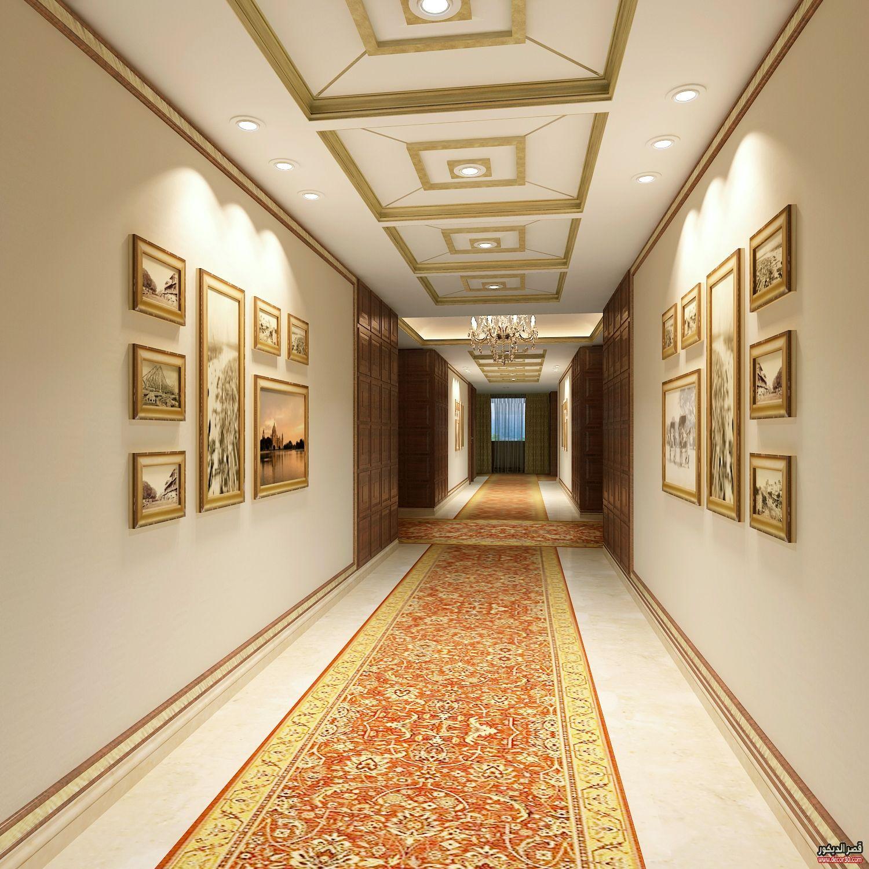 اشكال جبسيات مداخل للصالات والممرات والغرف بتصميمات حديثة قصر الديكور Interior Design Projects Modern Houses Interior Interior Design