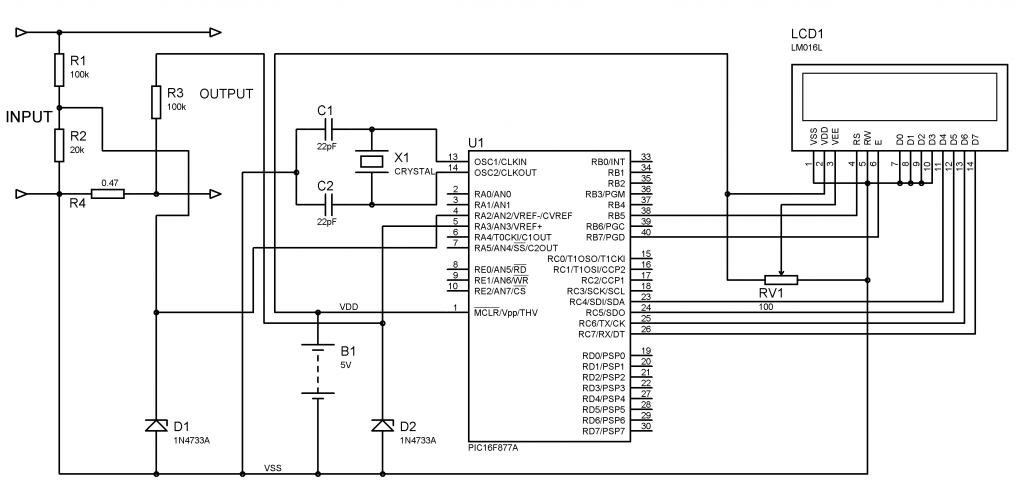 Voltmeter and Ammeter using PIC Microcontroller Pic