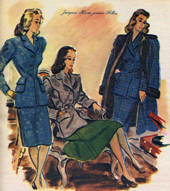Autumn fashion, 1946