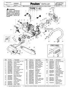 Poulan Gas Chainsaw Parts   Fast Shipping