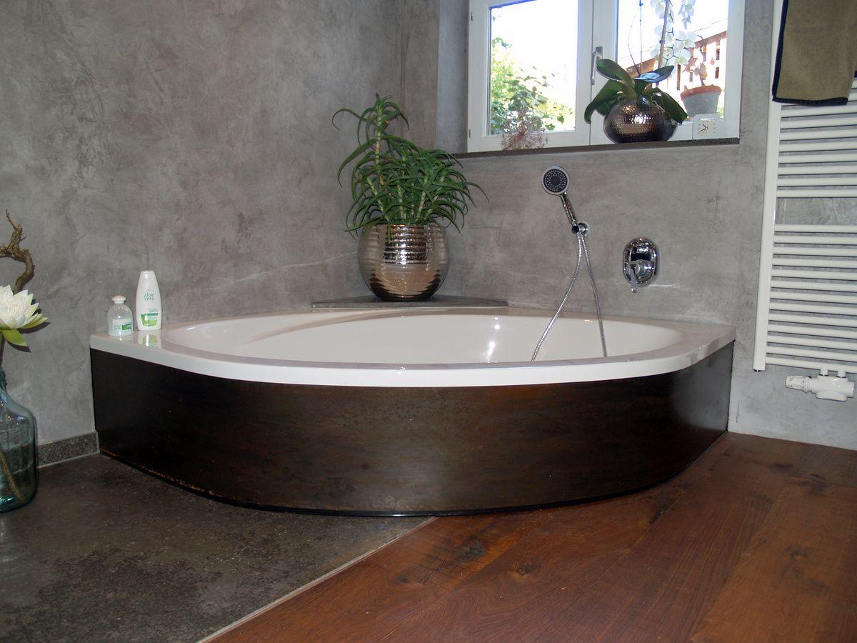 Eckbadewanne Mit Schwarzblechverkleidung Eckbadewanne Bad Design Dusche