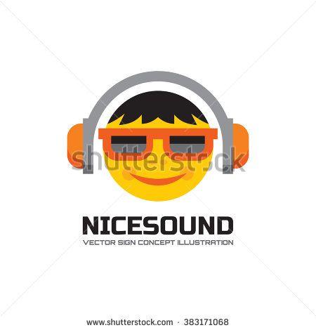 Nice Sound Vector Logo Concept Illustration In Flat Style Design
