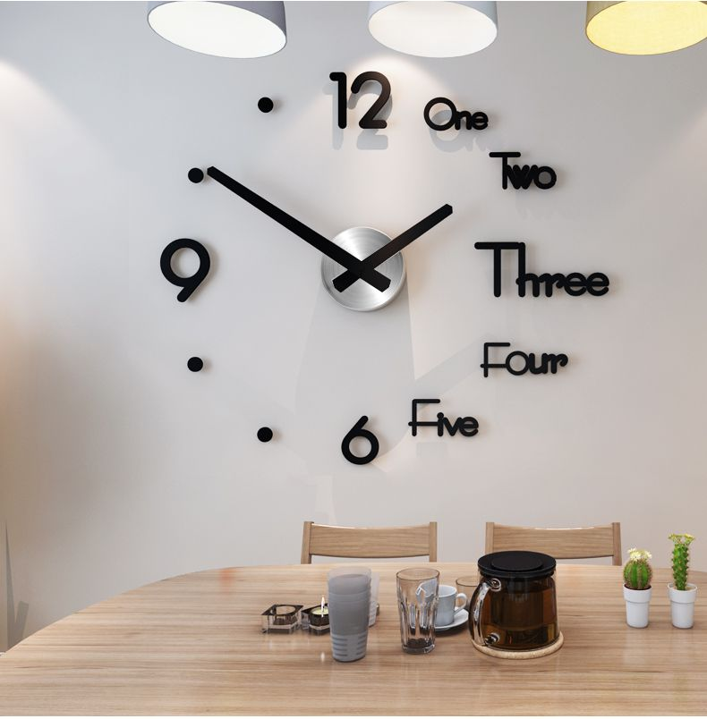 Diy 3d Wall Sticker Clock Wall Clock Kits Diy Clock Wall Wall Clock Modern