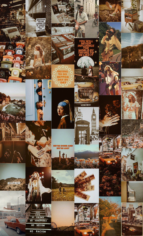 Vintage Wall Collage Kit (Digital Download) - Retro Aesthetic Collage Kit, Boujee Wall Collage, Dorm Room Decor, Printable Wall Art
