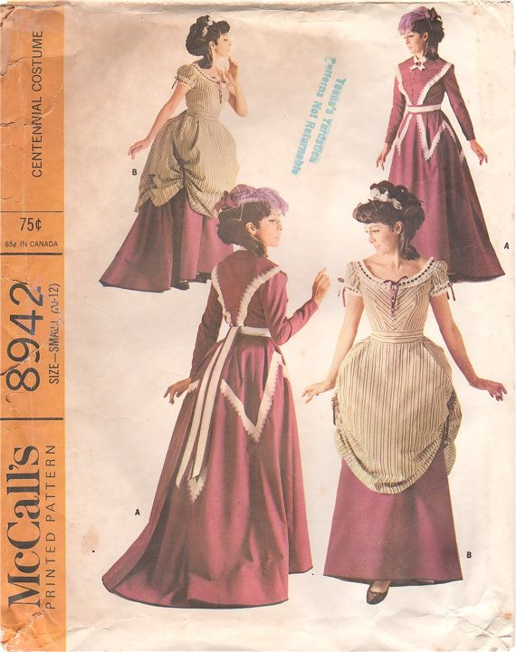 McCalls 8942 1960s Misses 1800s CENTENNIAL COSTUME by mbchills ...